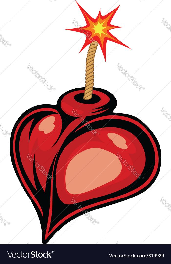 Heart bomb vector | Price: 1 Credit (USD $1)