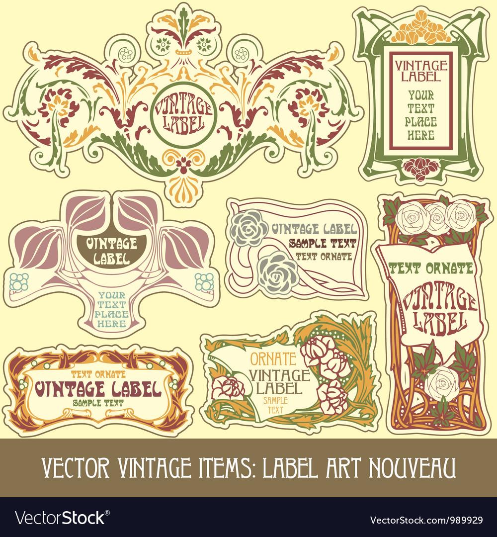 Label art nouveau vector   Price: 1 Credit (USD $1)