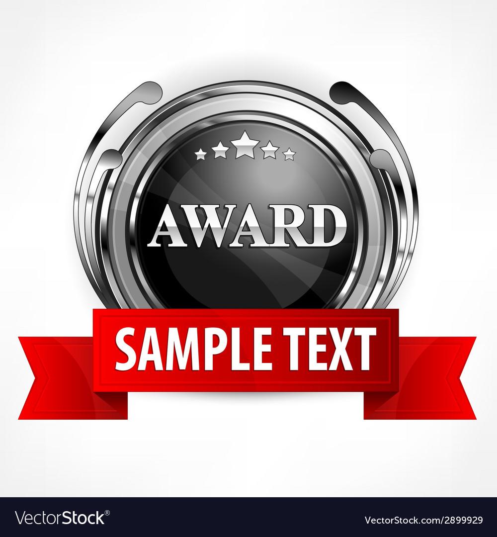 Metallic award with ribbon vector | Price: 1 Credit (USD $1)