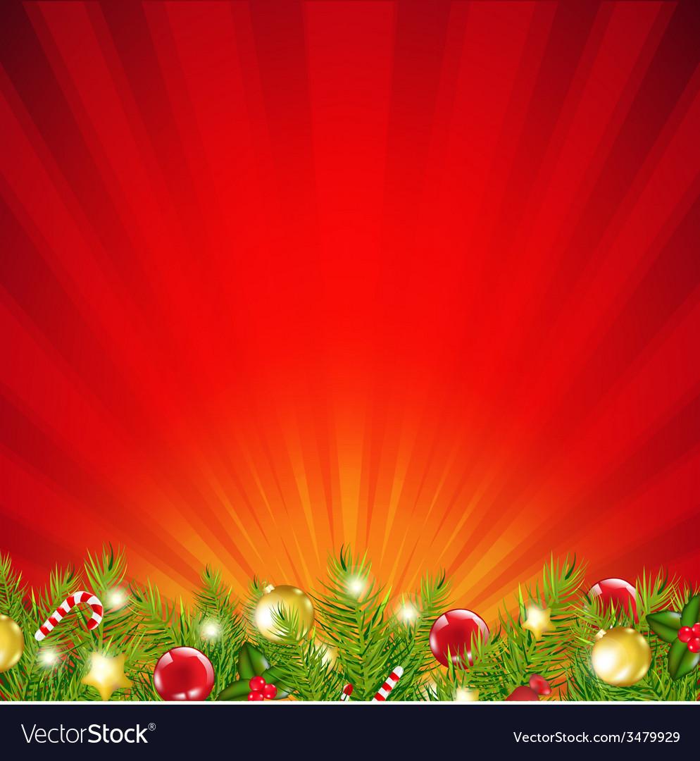 Red xmas sunburst border vector | Price: 1 Credit (USD $1)