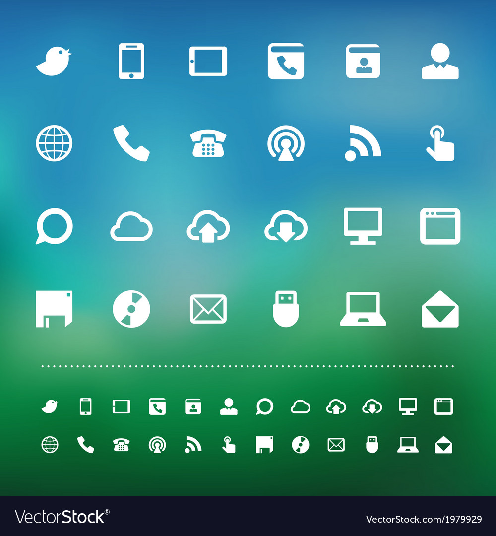 Retina communication icon set vector | Price: 1 Credit (USD $1)