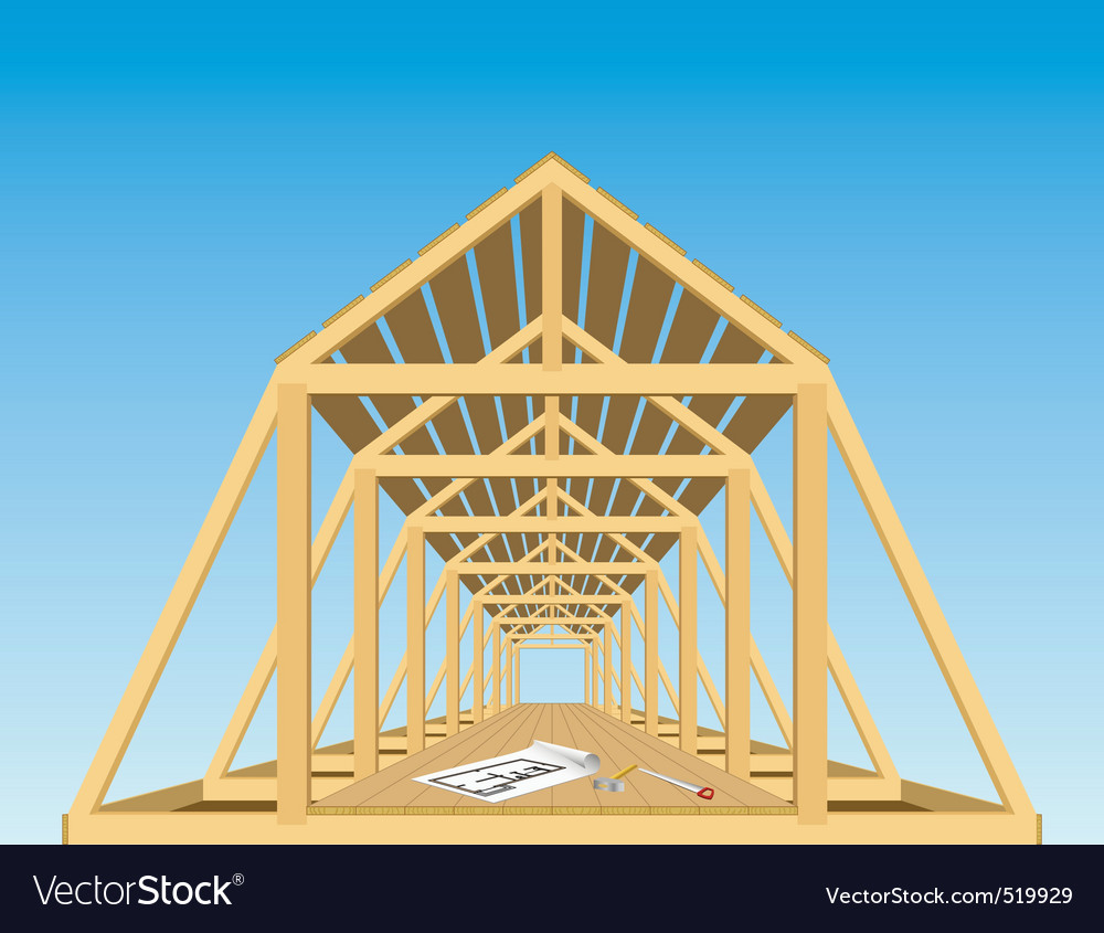 Roof of the house vector | Price: 1 Credit (USD $1)