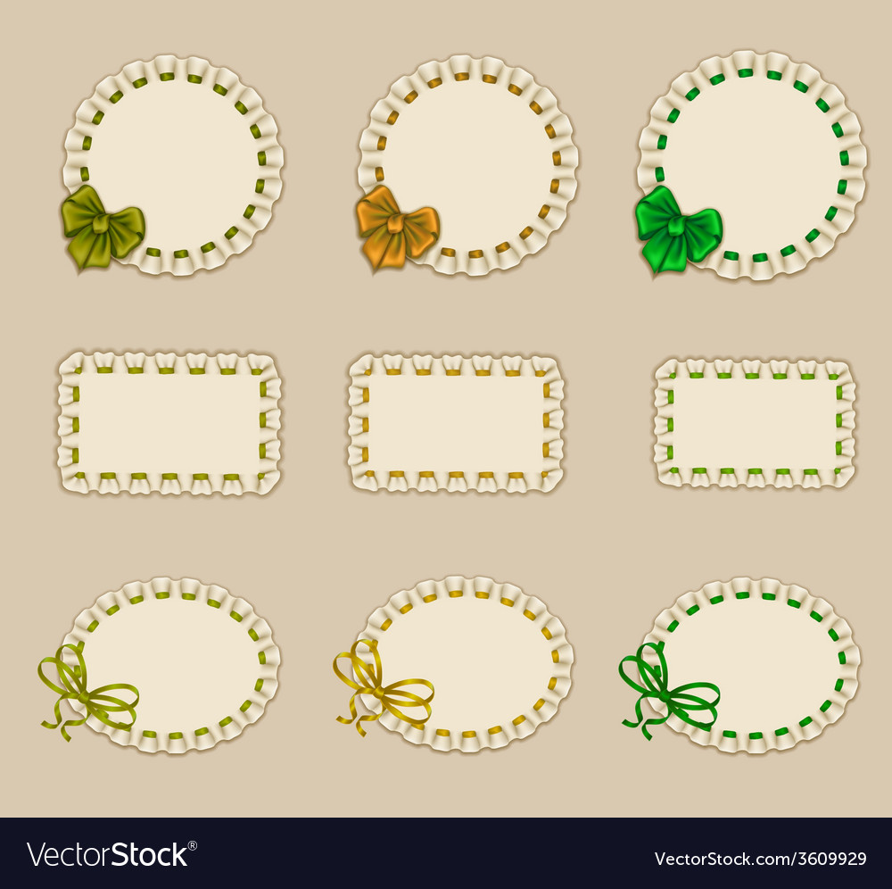 Set of elegant templates frame design vector | Price: 1 Credit (USD $1)