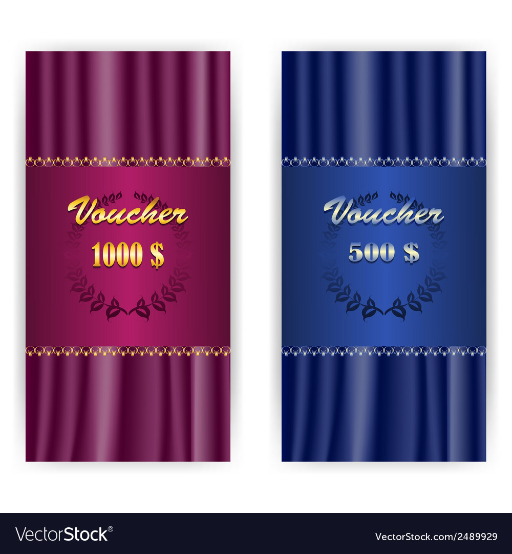 Set voucher coupon template vector | Price: 1 Credit (USD $1)