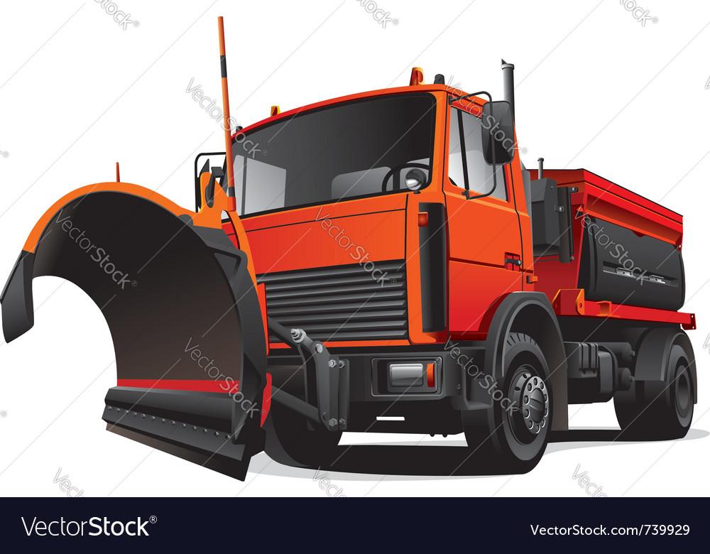 Snowplough truck vector | Price: 5 Credit (USD $5)