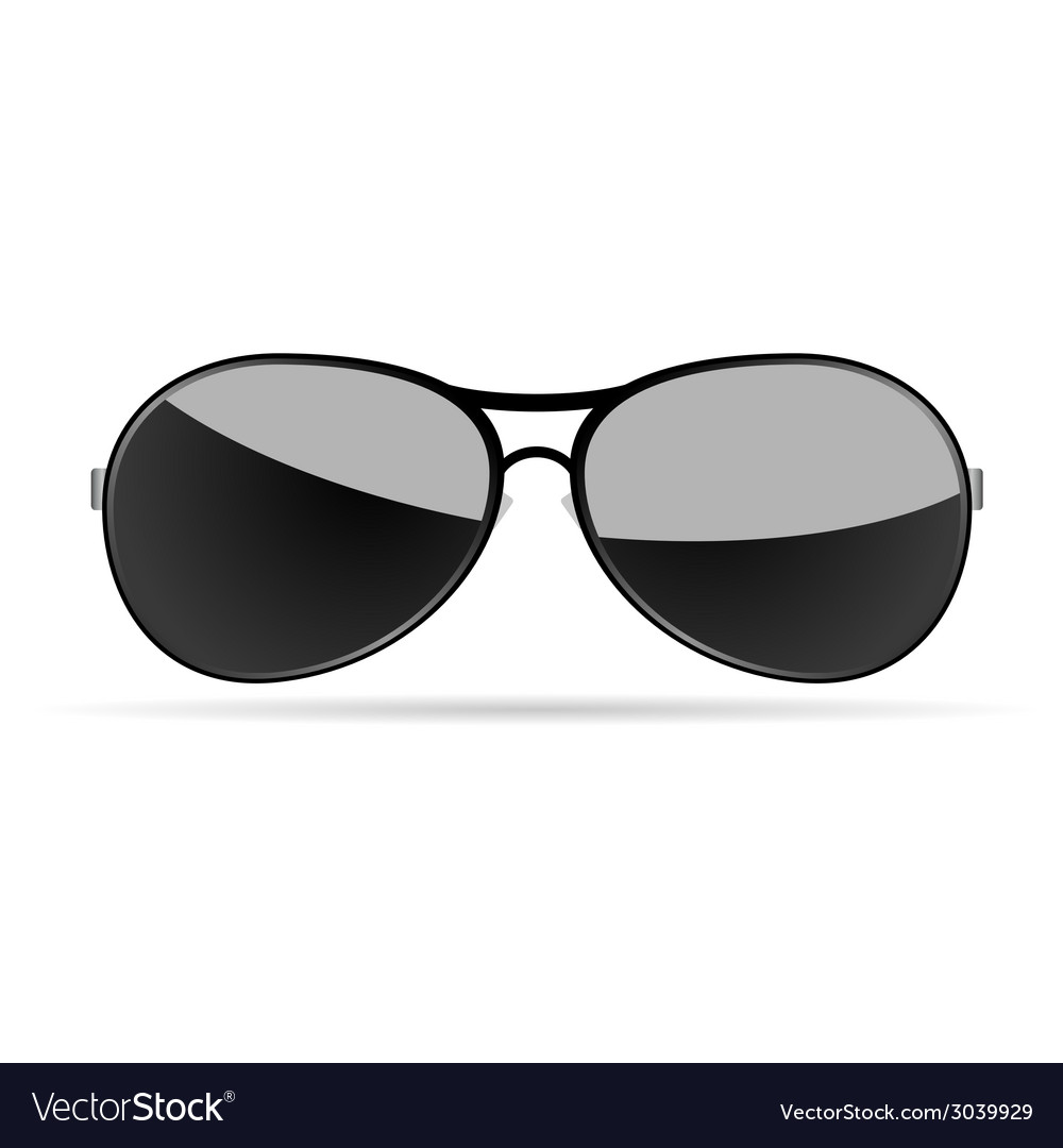 Sunglasses art on a white background vector | Price: 1 Credit (USD $1)
