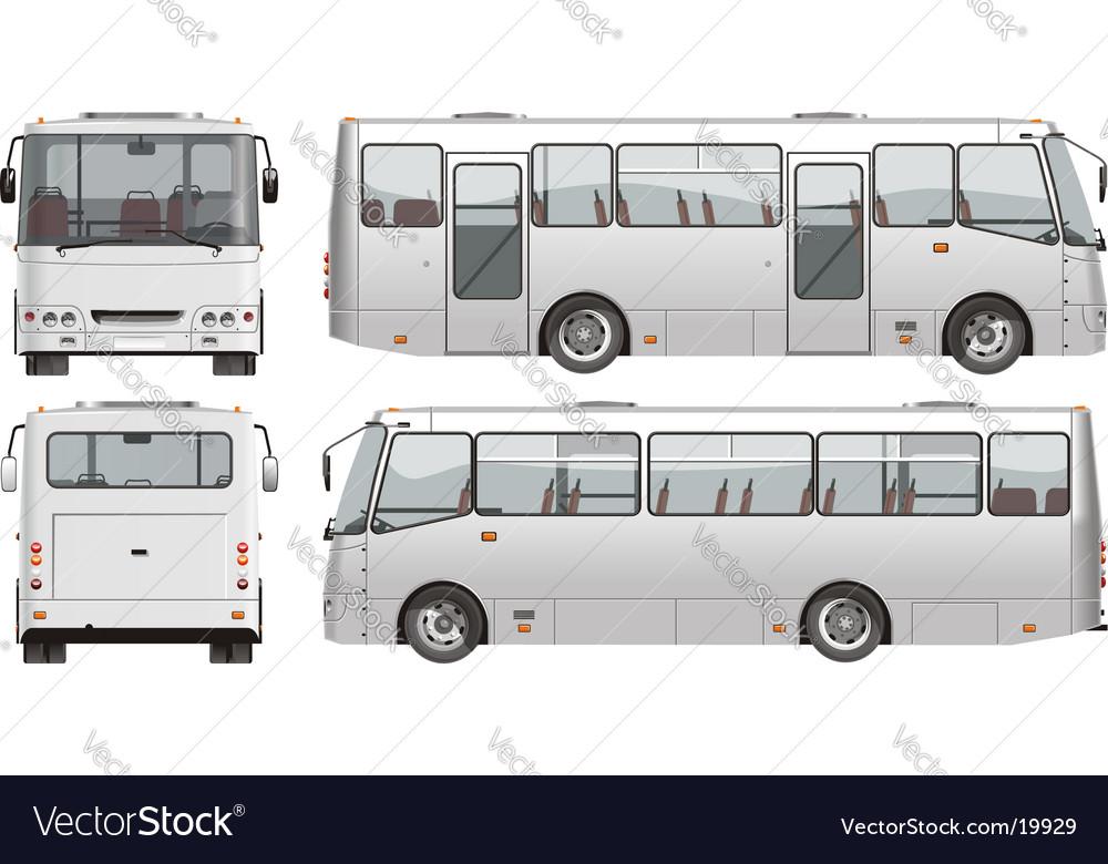 Urban passenger mini-bus vector | Price: 3 Credit (USD $3)