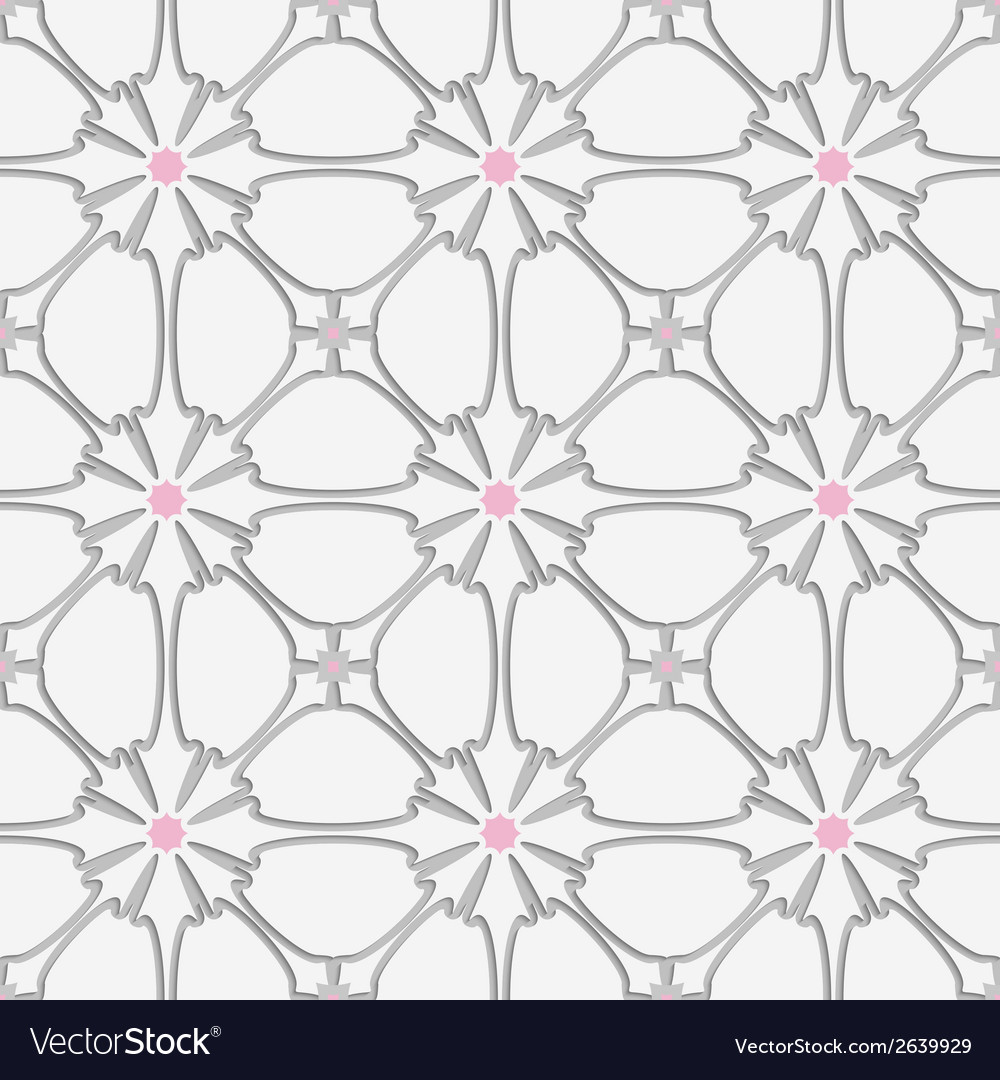 White flourish with pink tile ornament vector   Price: 1 Credit (USD $1)