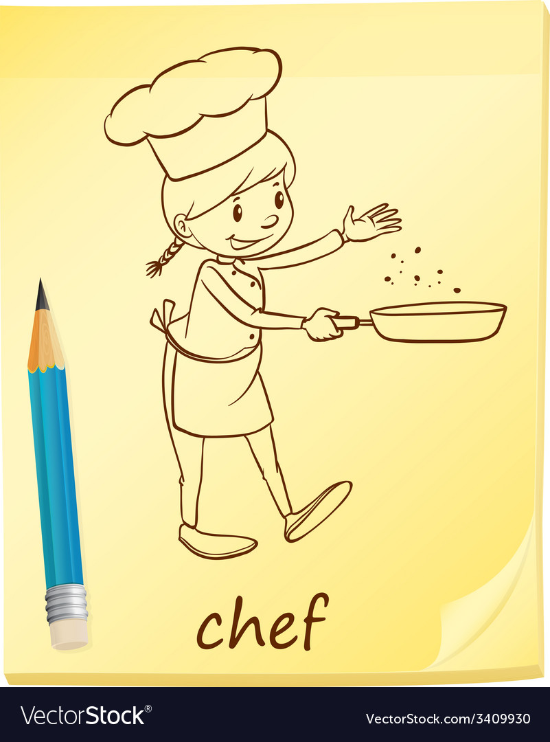 A post-it with a chef vector | Price: 1 Credit (USD $1)