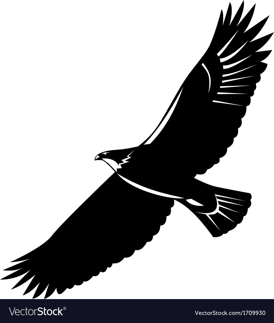 American eagle flying woodcut vector | Price: 1 Credit (USD $1)