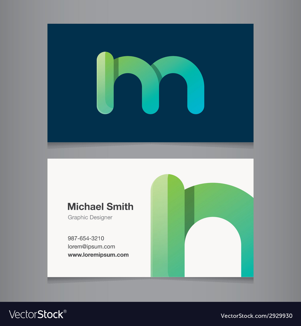 Business card letter m vector | Price: 1 Credit (USD $1)