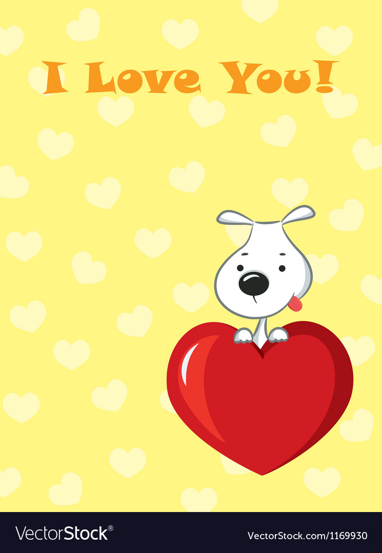 Dog in love vector | Price: 1 Credit (USD $1)