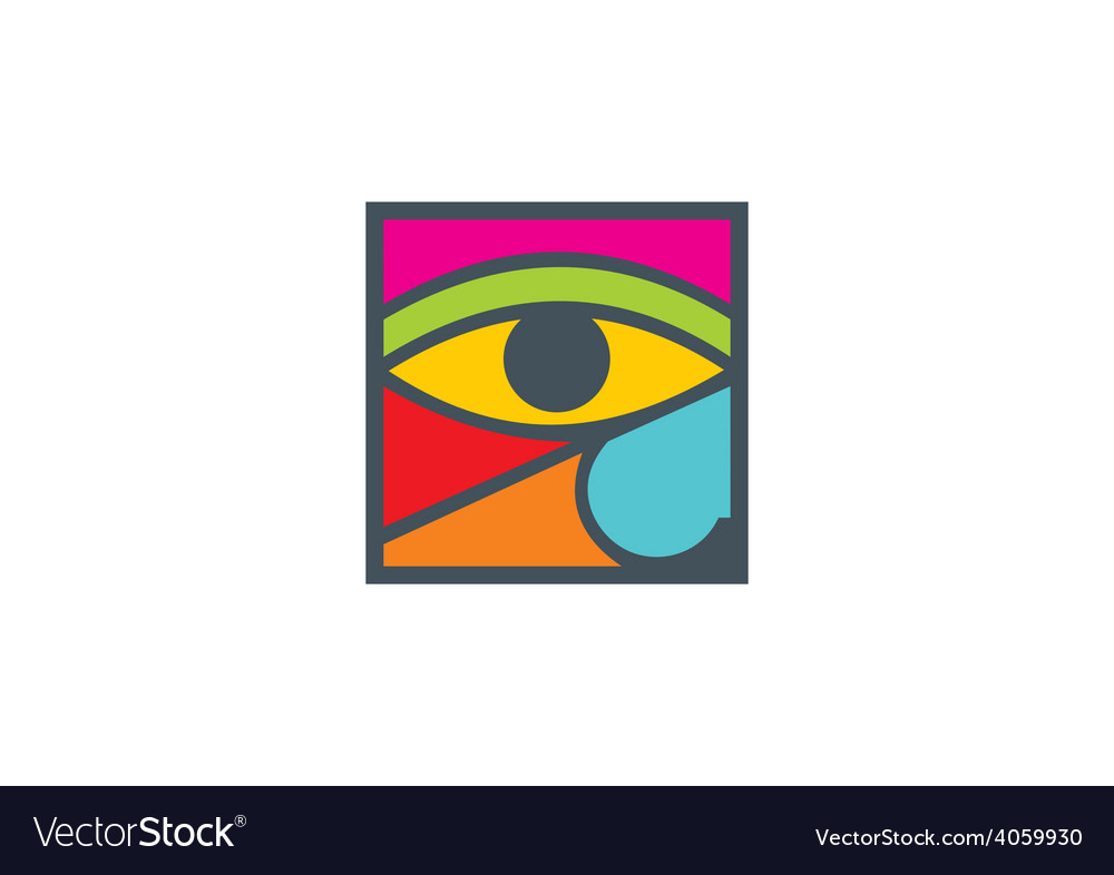 Eye decoration abstract logo vector | Price: 1 Credit (USD $1)