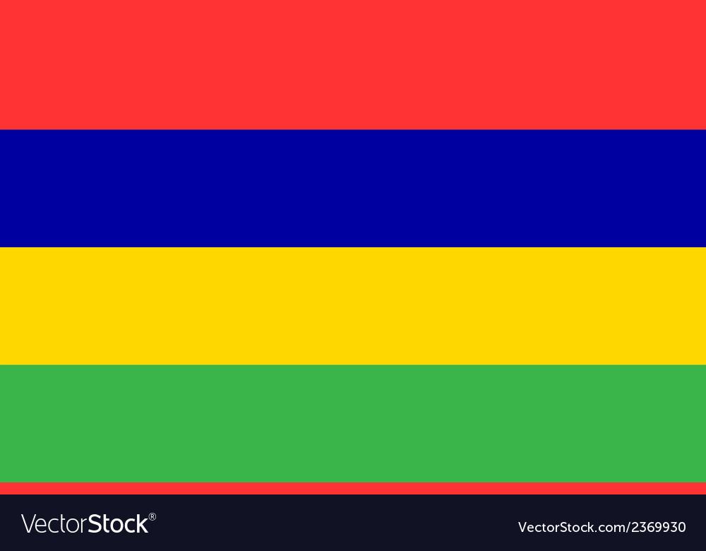 Flag of mauritius vector | Price: 1 Credit (USD $1)
