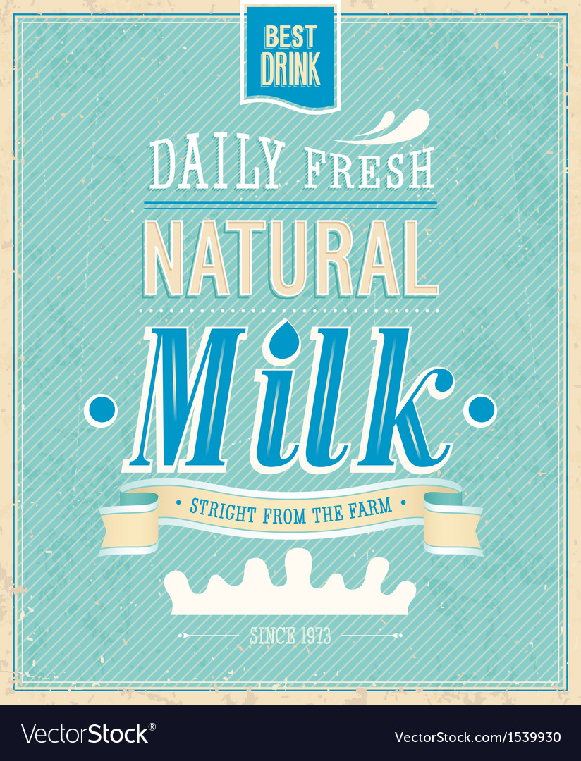 Natural milk vector | Price: 1 Credit (USD $1)