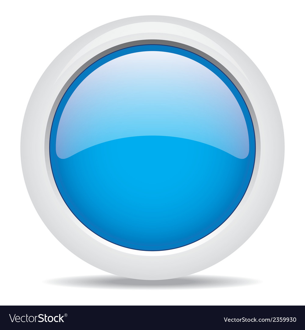 Popular blue color web button 3d vector | Price: 1 Credit (USD $1)