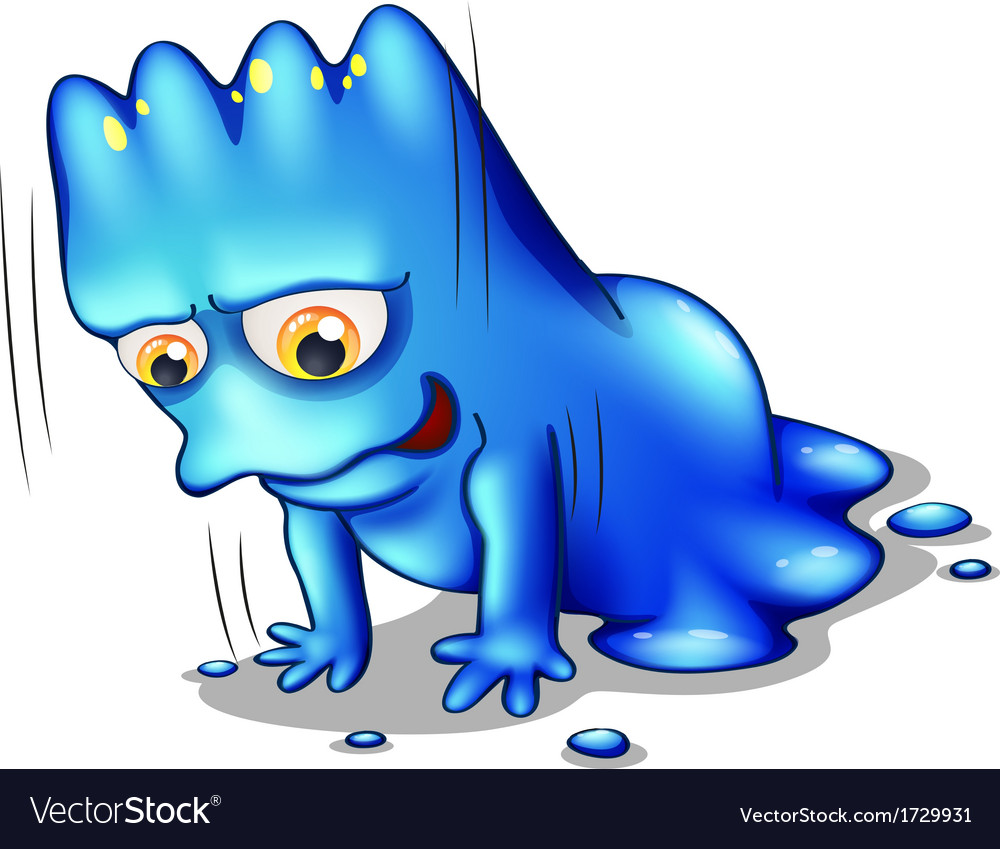 A blue monster exercising alone vector | Price: 1 Credit (USD $1)