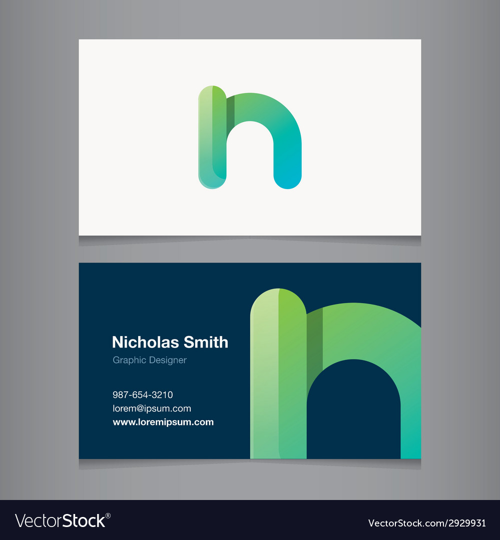 Business card letter n vector | Price: 1 Credit (USD $1)