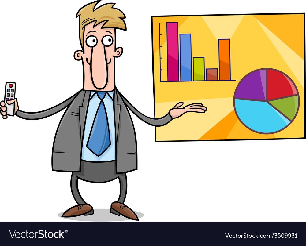 Businessman presentation cartoon vector   Price: 1 Credit (USD $1)