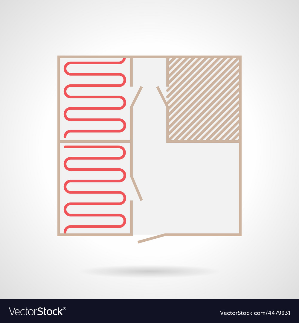 Colorful icon for underfloor heating vector | Price: 1 Credit (USD $1)