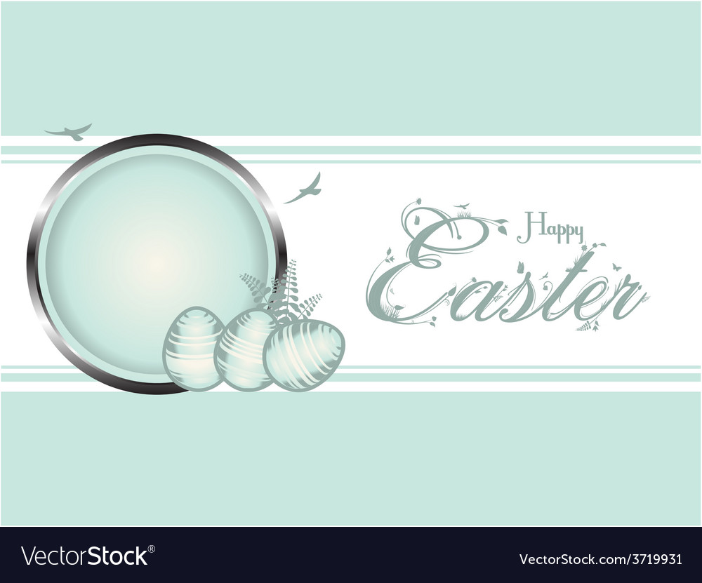 Easter eggs pastel green border vector | Price: 1 Credit (USD $1)