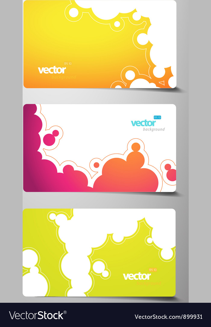 Gift cards set vector | Price: 1 Credit (USD $1)