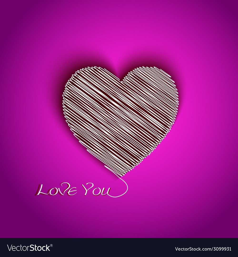 Heart shape with i love you message vector | Price: 1 Credit (USD $1)