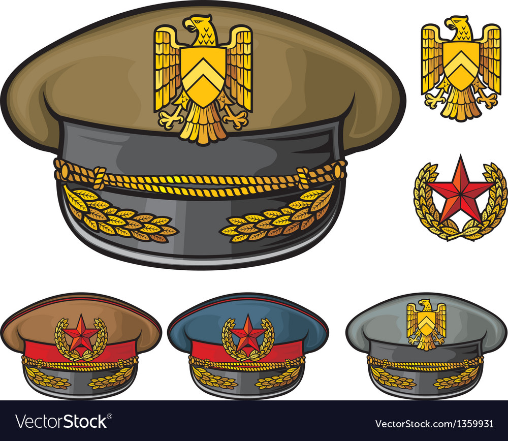 Military hats vector | Price: 1 Credit (USD $1)