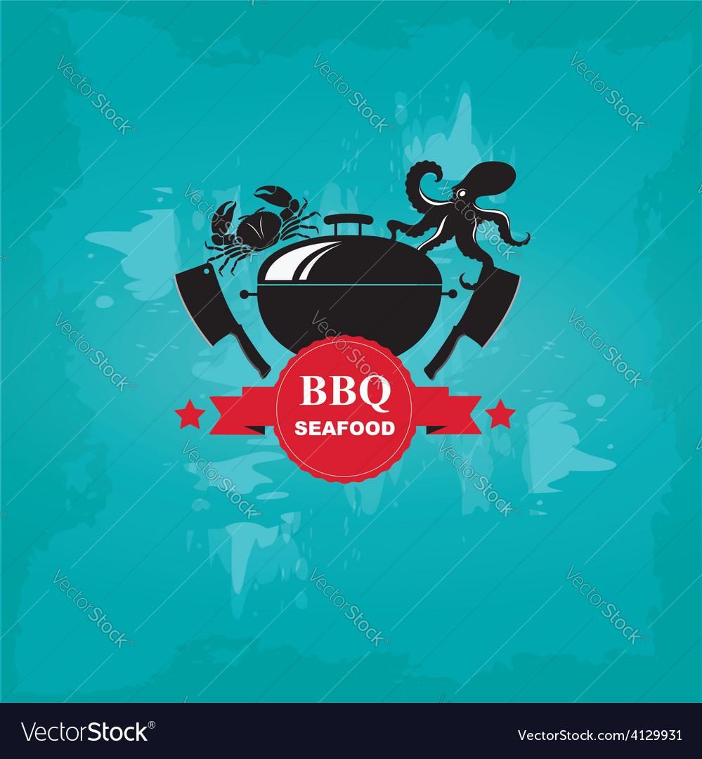 Seafood cafe menu grill template design vector | Price: 1 Credit (USD $1)