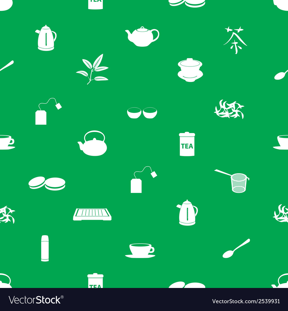 Tea icons pattern eps10 vector | Price: 1 Credit (USD $1)