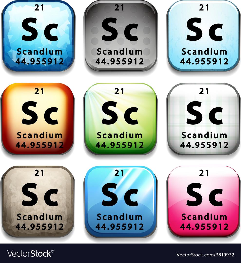 The chemical element scandium vector   Price: 1 Credit (USD $1)