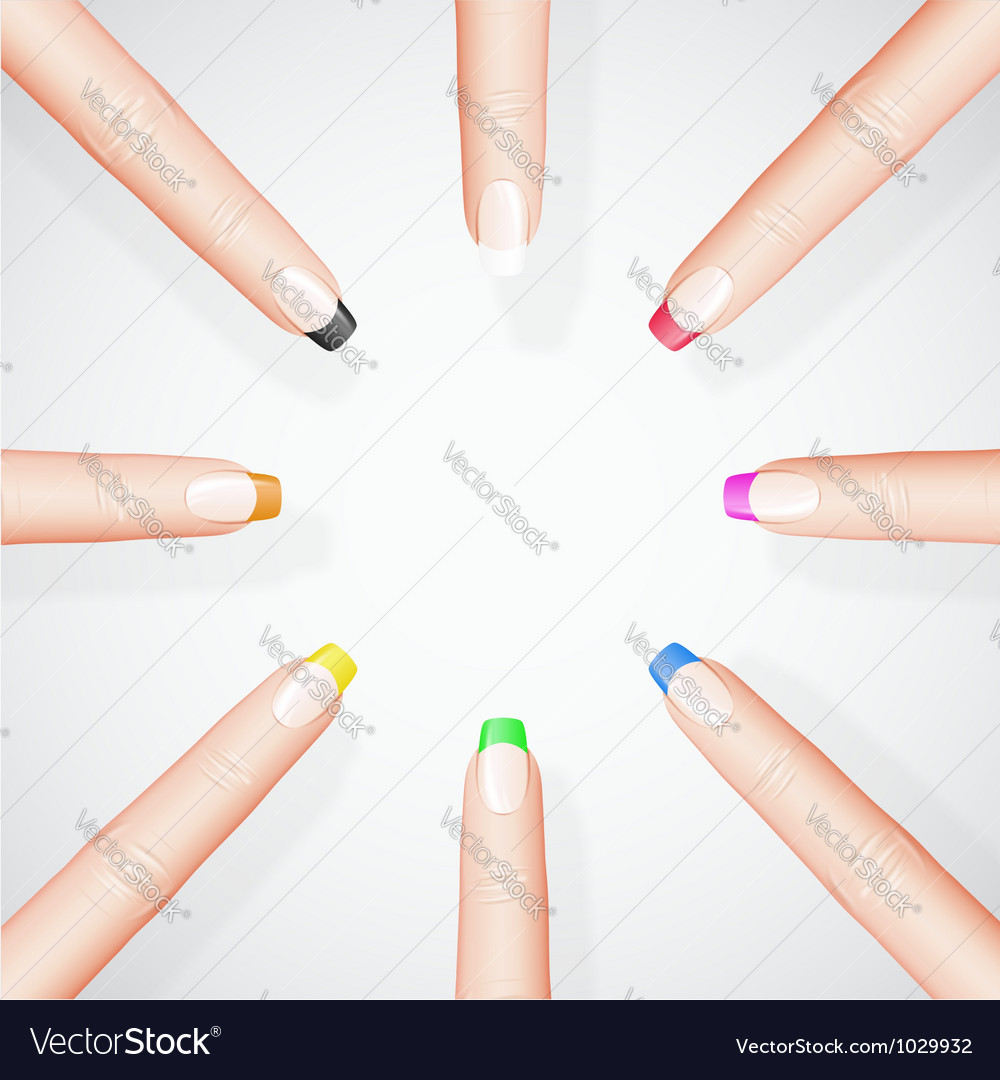 Different manicure vector | Price: 1 Credit (USD $1)