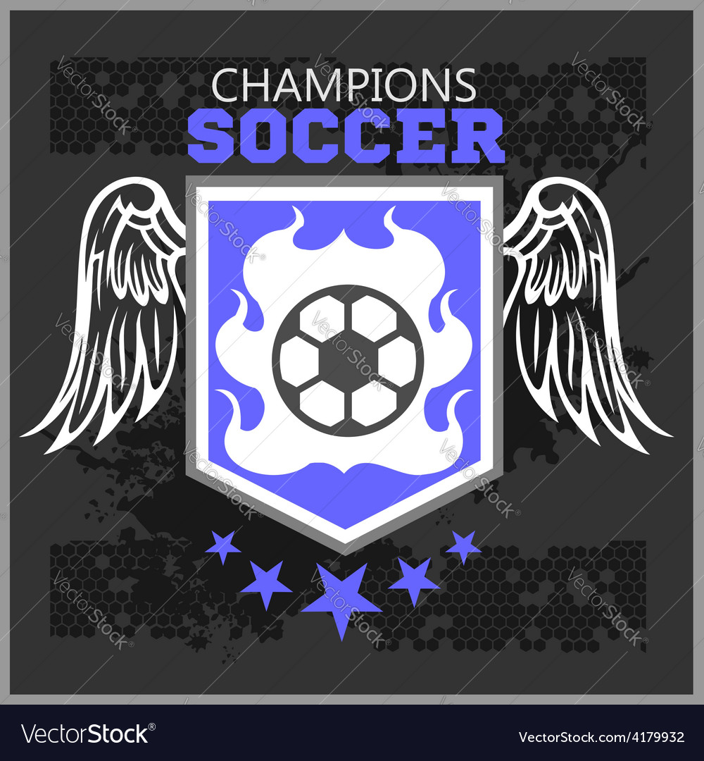 Football soccer badge patch and emblem for sport vector | Price: 3 Credit (USD $3)