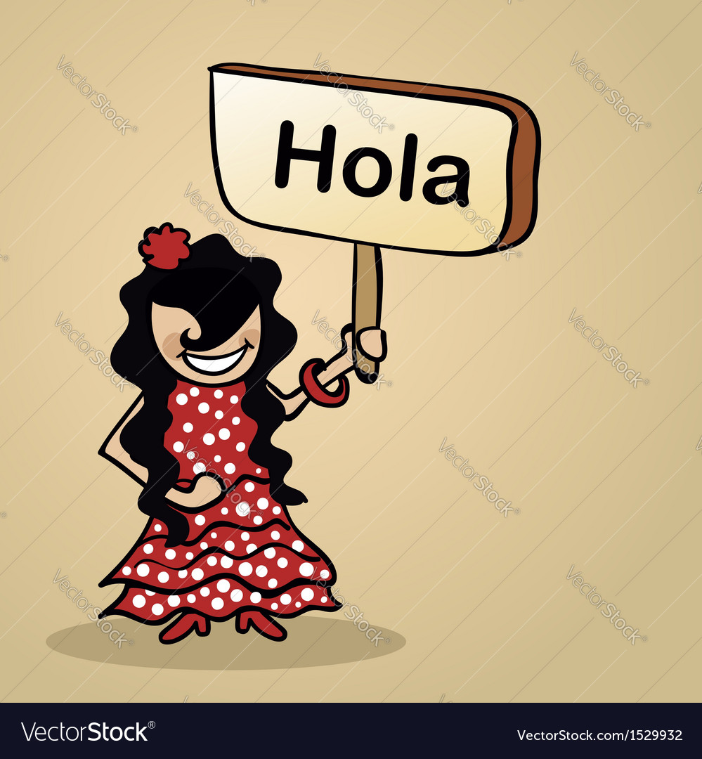 Hello from spain people vector | Price: 1 Credit (USD $1)
