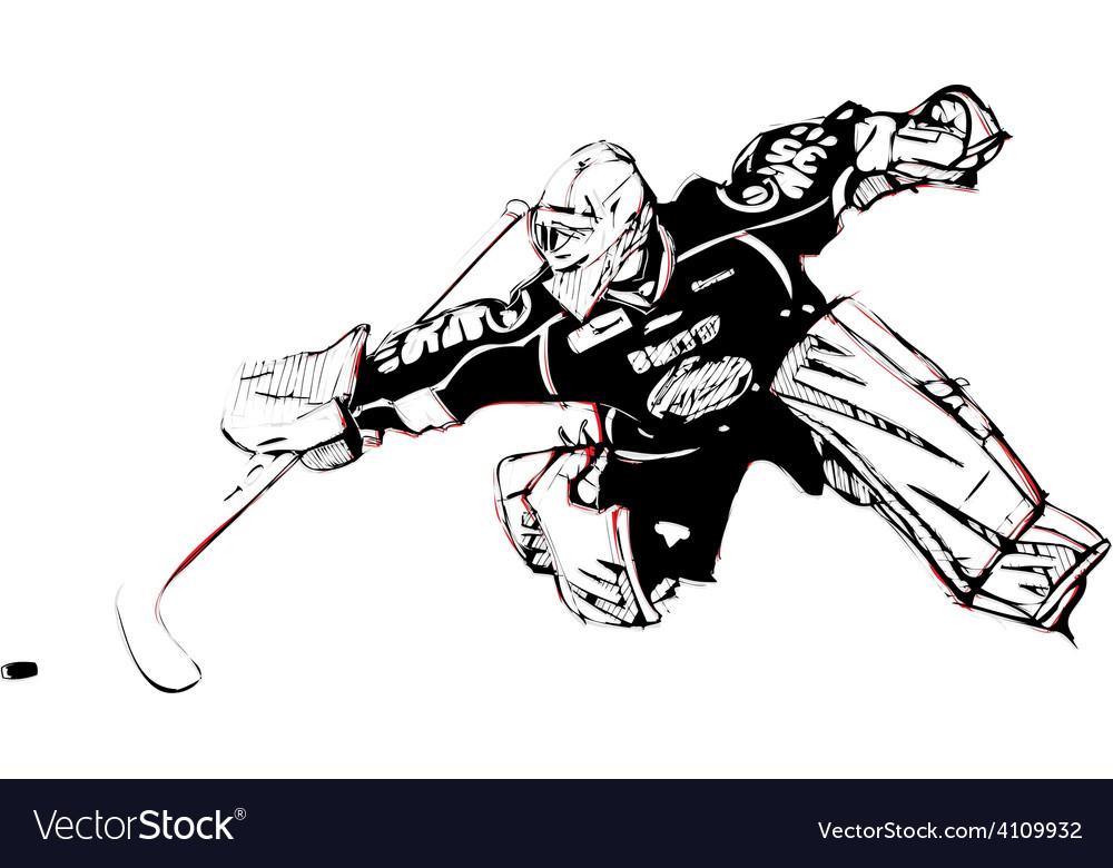 Ice hockey goalkeeper vector | Price: 1 Credit (USD $1)