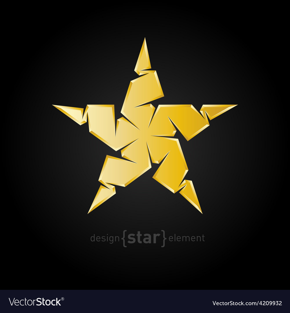 Luxury golden star on black background vector | Price: 1 Credit (USD $1)