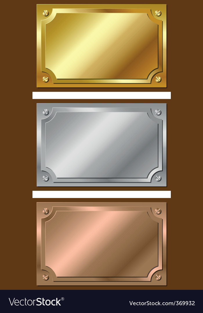 Metal plaques vector | Price: 1 Credit (USD $1)