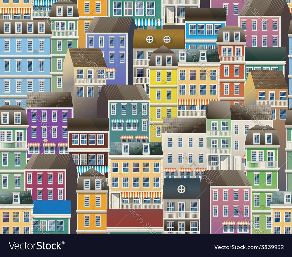 Old town pattern vector | Price: 1 Credit (USD $1)