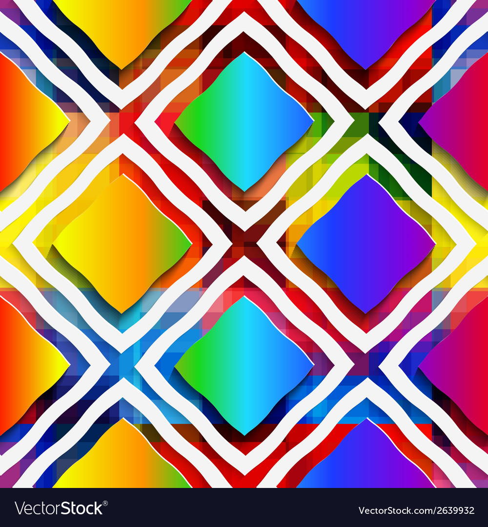 Rainbow colored rectangles and rim on rainbow vector | Price: 1 Credit (USD $1)