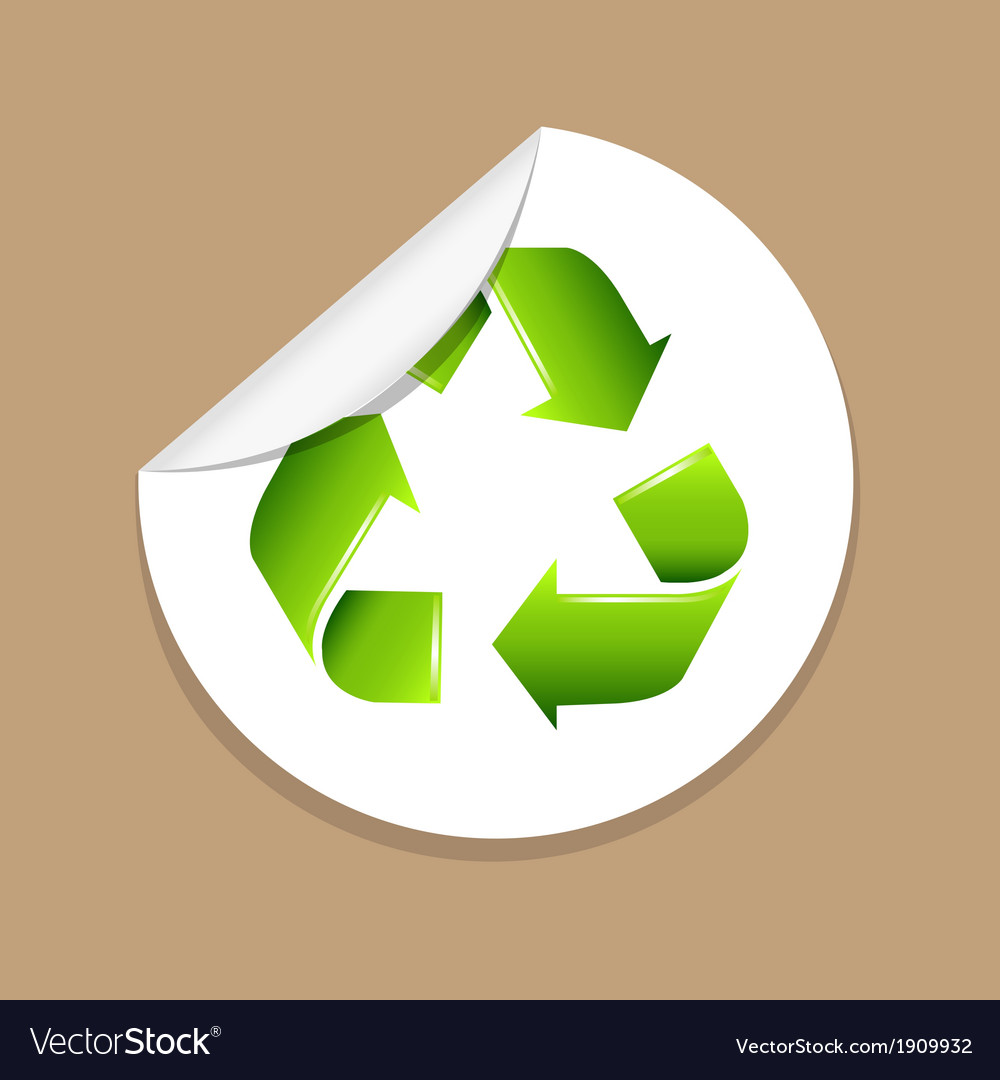 Recycle label vector | Price: 1 Credit (USD $1)
