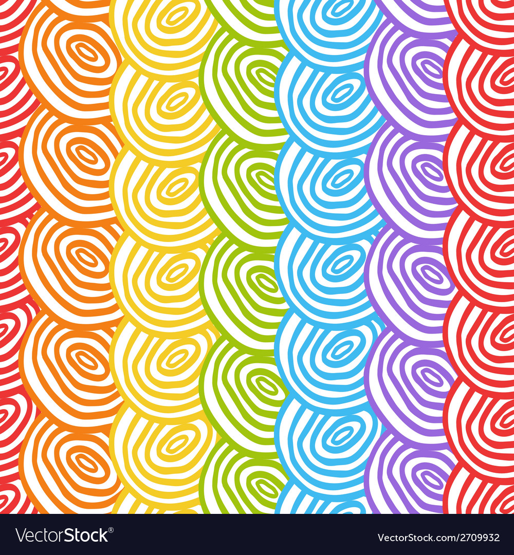 Seamless simple rainbow doodle background with vector | Price: 1 Credit (USD $1)