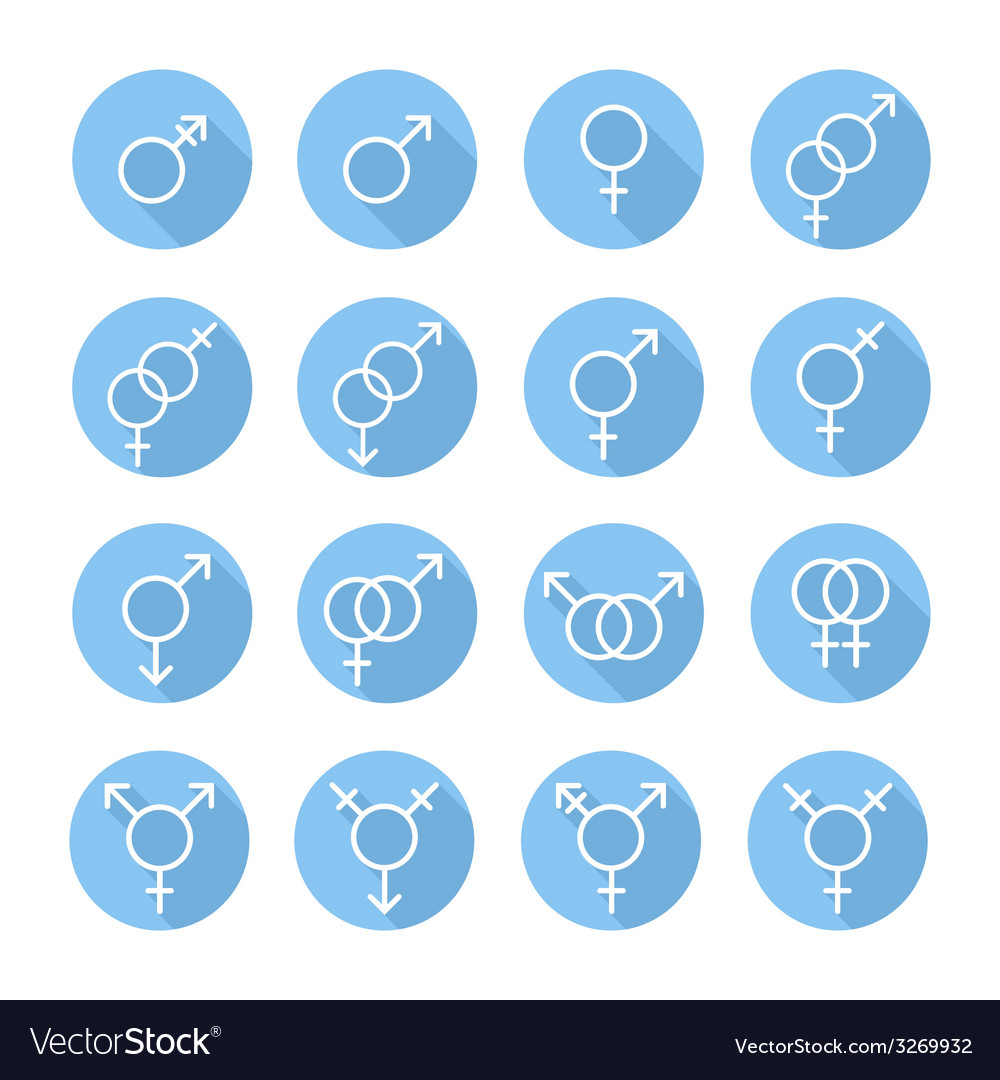 Sexual orientation gender web iconssymbolsign in vector | Price: 1 Credit (USD $1)