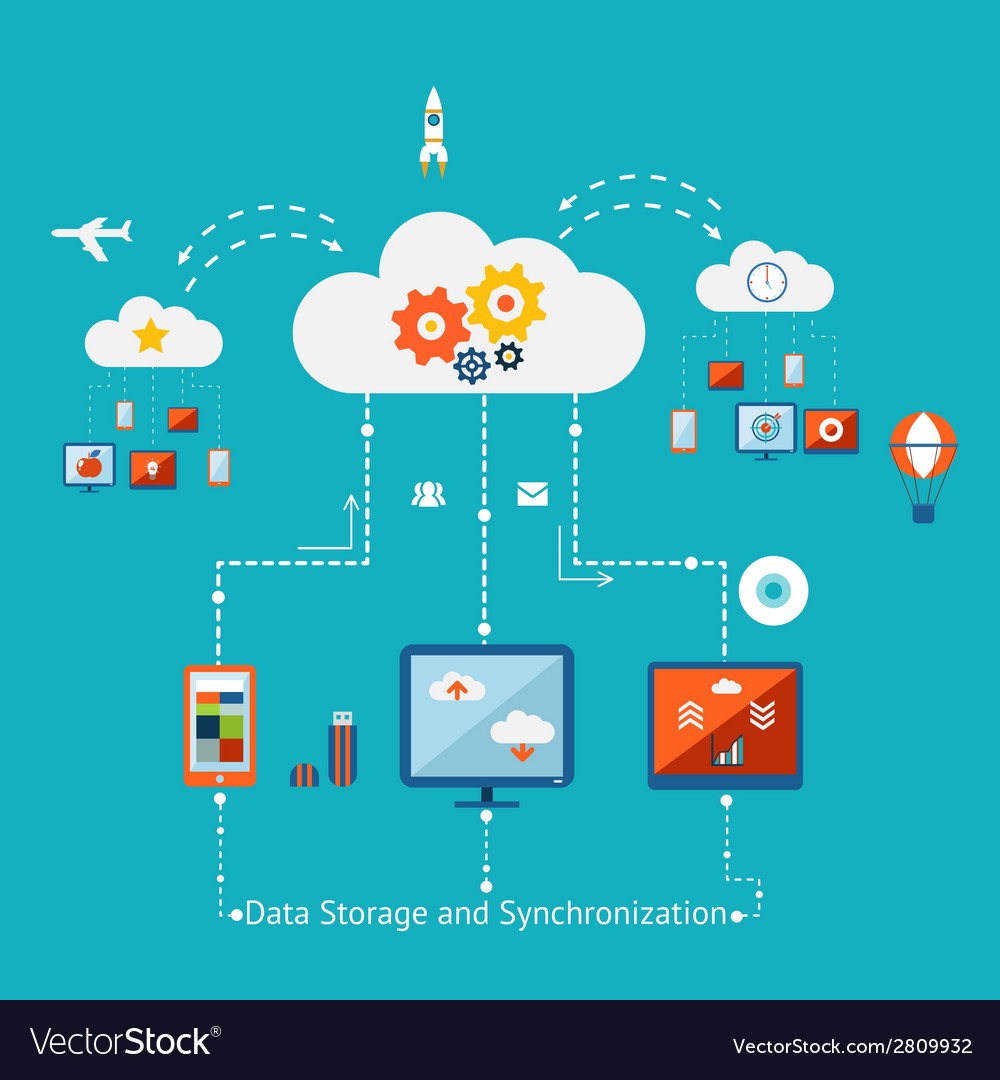 Storage and synchronization vector | Price: 1 Credit (USD $1)