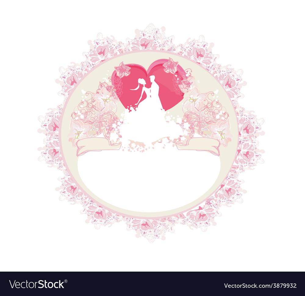 Stylish wedding invitation card with vintage vector   Price: 1 Credit (USD $1)