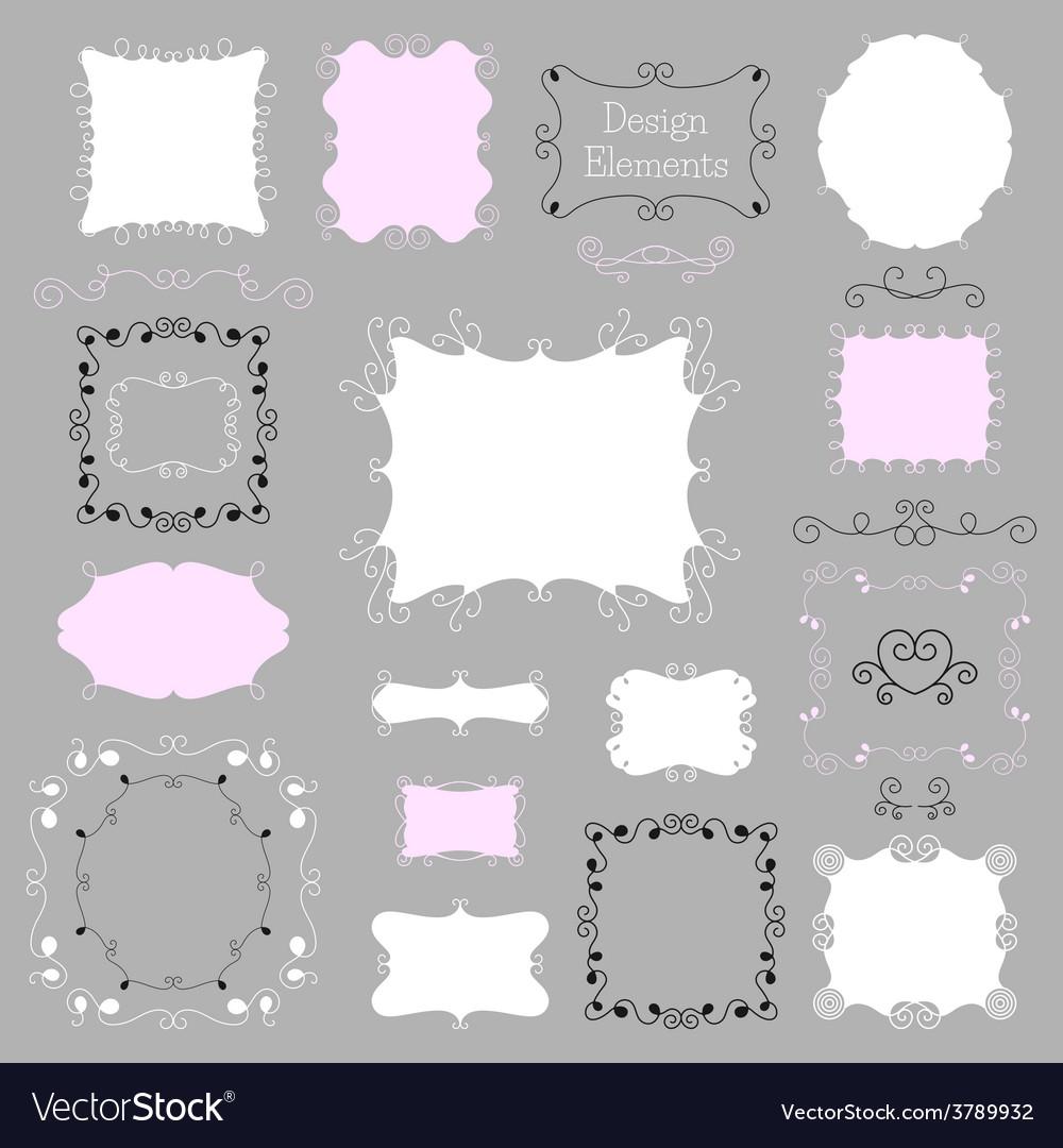 Vintage frames and decoration elements vector | Price: 1 Credit (USD $1)