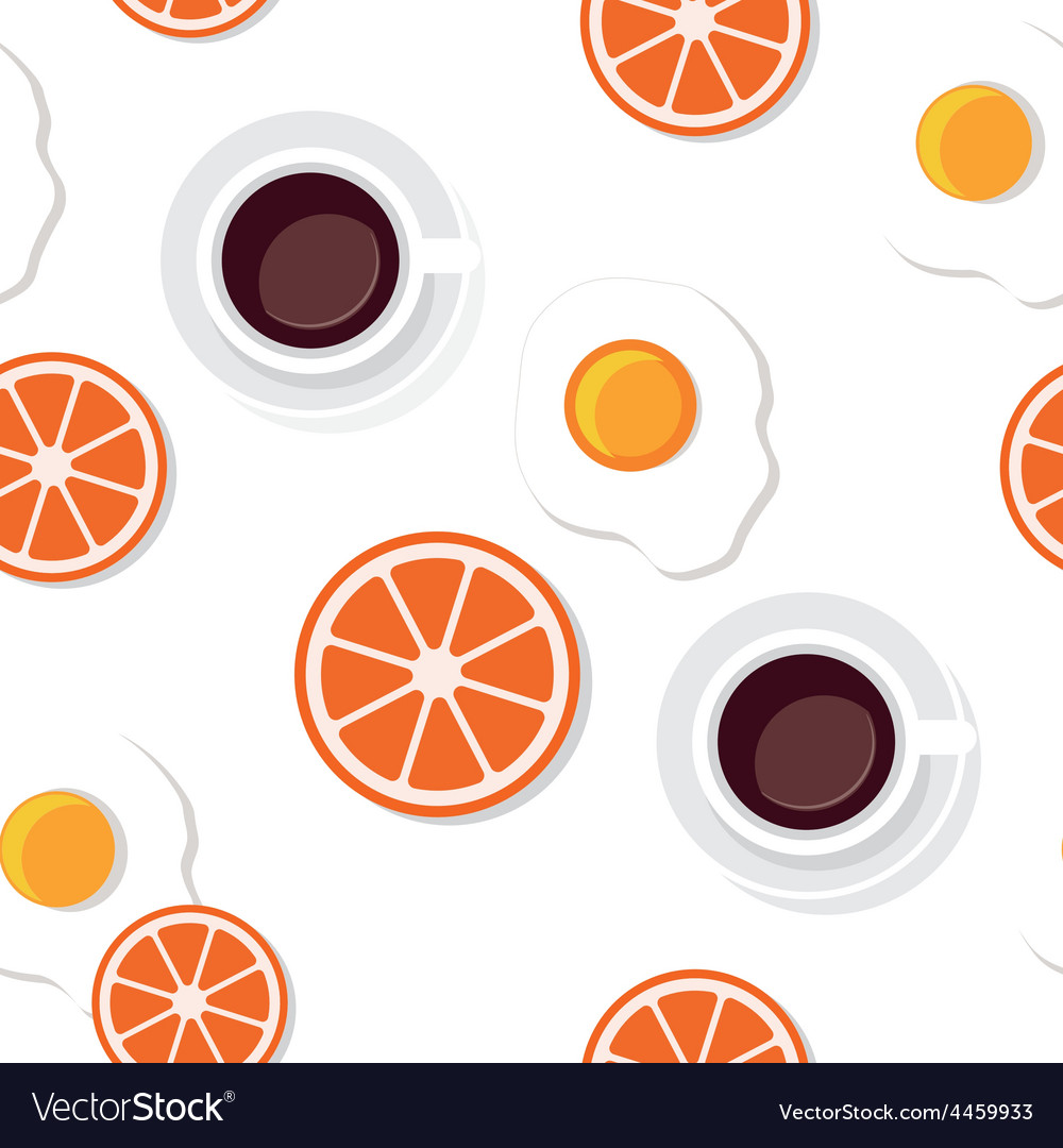 Breakfast food and drinks pattern vector | Price: 1 Credit (USD $1)