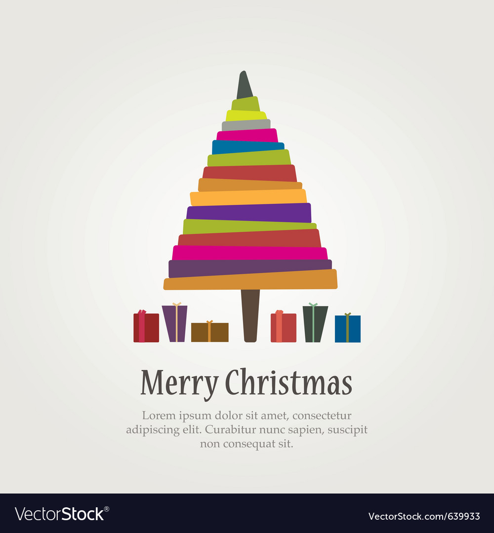 Christmas modern tree vector | Price: 1 Credit (USD $1)