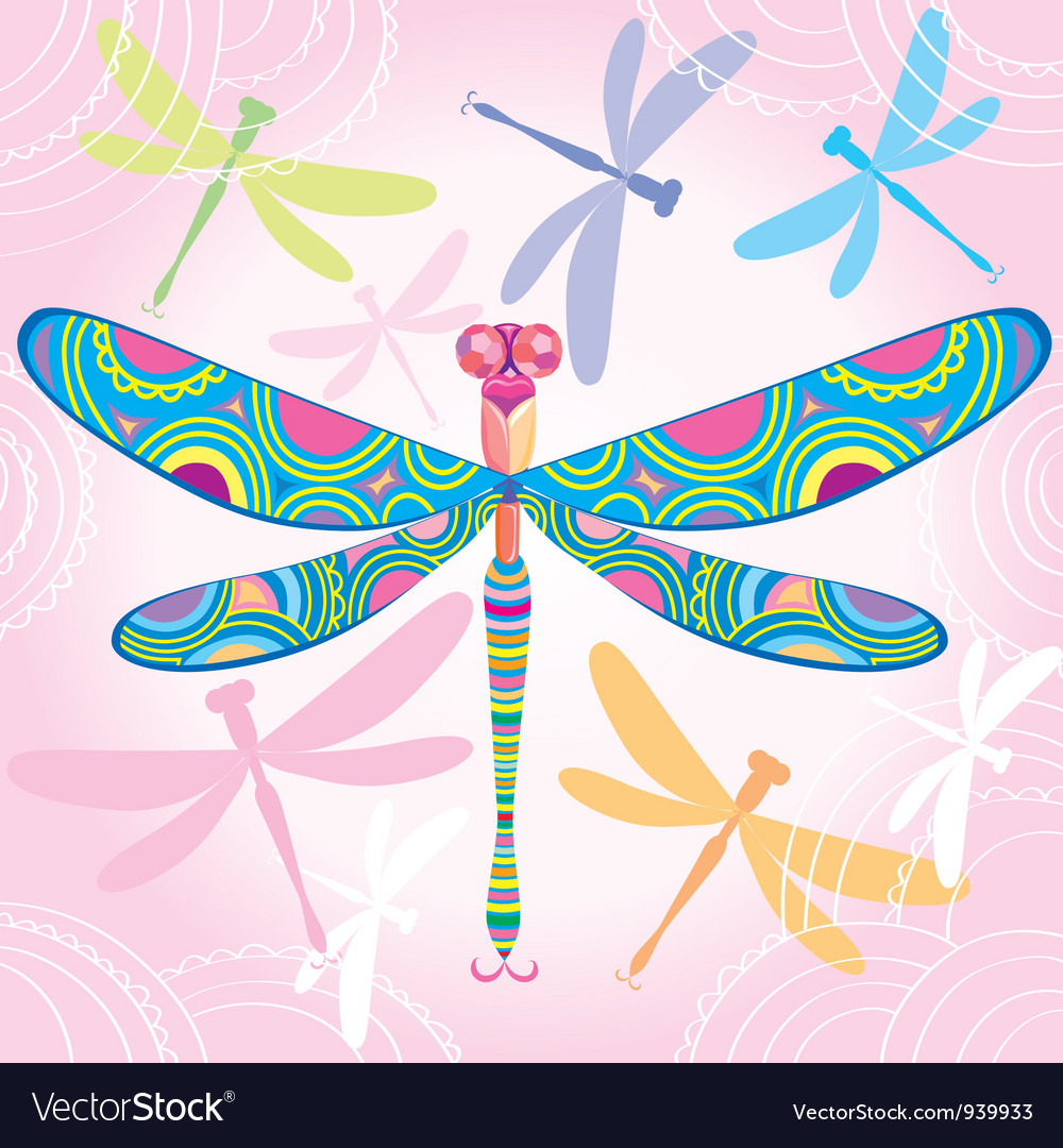 Decorative dragonfly vector | Price: 3 Credit (USD $3)