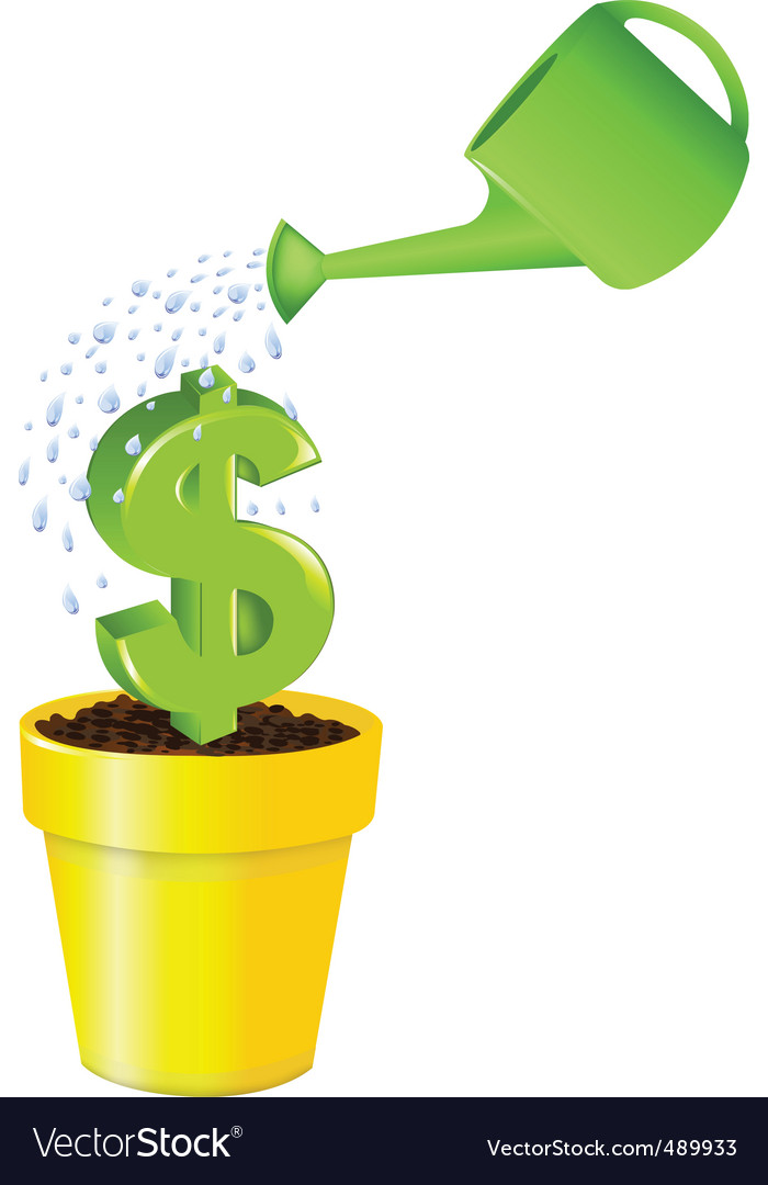 Dollar in pot vector | Price: 1 Credit (USD $1)