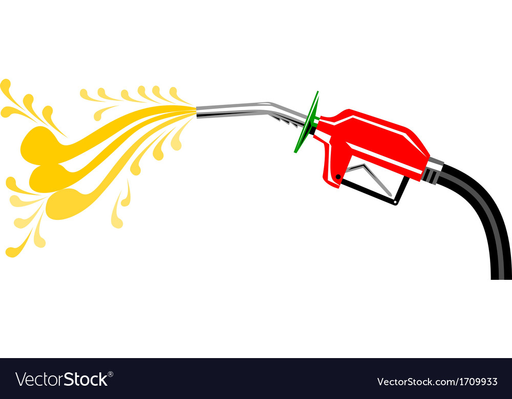 Fuel pump nozzle side retro vector | Price: 1 Credit (USD $1)